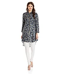Shakumbhari Women's Tunic Shirt (SW-712_Grey_Small)