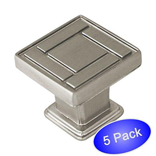 Cosmas 7155SN Satin Nickel Cabinet Hardware Knob - 1-1/8 Inch Square - 5 Pack at Sears.com