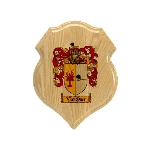 Vanover Coat of Arms Plaque / Family Crest Plaque