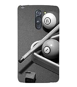 Vizagbeats Snooker Cue balls Back Case Cover for LG G3 Stylus::LG G3 Stylus D690N::LG G3 Stylus D690