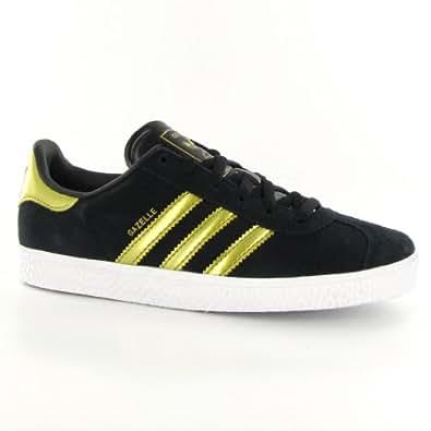 Amazon.com: Adidas Gazelle Black Gold Womens Trainers Size 10.5 US