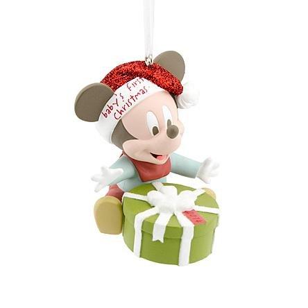 Disney Hallmark Mickey Mouse Baby's First Christmas 2014 Ornament
