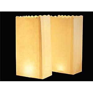 10 PZ Night Lanterns, Confezione romanticismo Sacchetti per candele, motivo Basic Bianco   recensioni