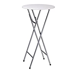 Folding high bistro bar table tall mdf tall dining poseur - Tables hautes bar ...