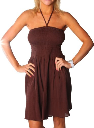 One size fits all Ruffled Tube Dress Coverup