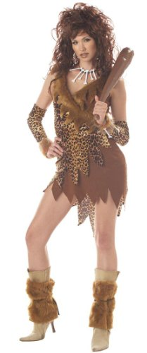 Sexy Womens Adult Costume Cavewoman Caveman Outfit L Womens US Large (10-12)