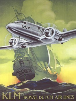 KLM Airlines Metal Sign: Aircraft and Airplane Decor Wall Accent by Original Metal Sign Company