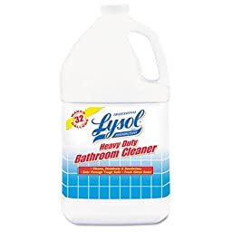 Lysol Professional Disinfectant Heavy Duty Bathroom Cleaner Concentrate, 128 Ounce (Pack of 4)