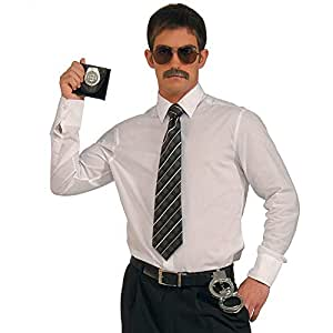 Forum Novelties Police Detective Costume Kit, Sunglasses Moustache Badge Handcuffs
