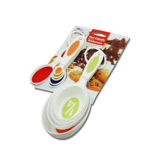 Chef Friendly Measuring Cups & Spoons 10 pcs