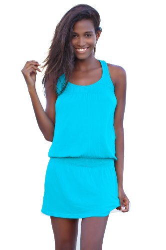 Ingear Smocked Tank Dress (Large/XLarge, Turquoise)