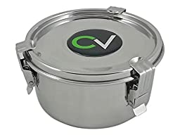CVault Humidity Control Airtight Stash Container by FreshStor - Size: Medium - 4 x 2.25 (8g Boveda Pack Included) by CVault