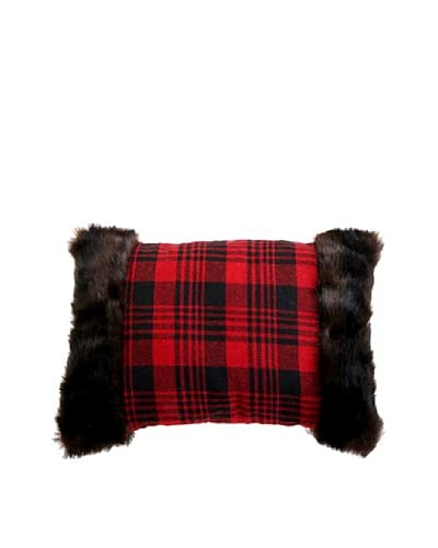 Raz 16 Plaid Pillow, Red/Black