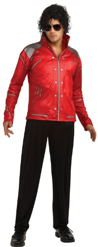 Red Michael Jackson Zipper Jacket Costume