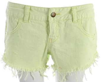 Billabong Women's Laneway Denim Shorts Lemon Twist 0