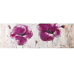 Yosemite Home Decor YA100125B Purple Burst II Hand Painted Abstract Wall Art
