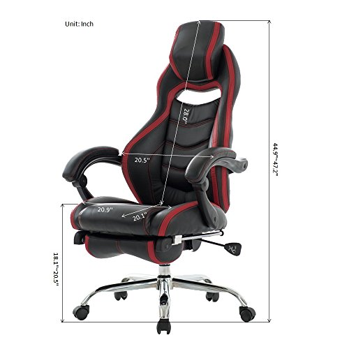 viva office fashionable high back reclining chair bonded leather gaming racing style swivel. Black Bedroom Furniture Sets. Home Design Ideas