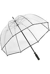 Elite Rain Umbrella Golf-Sized Bubble Umbrella - Black Trim