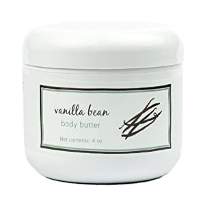 Body Beautiful Butter by MoonDance Soaps, Vanilla Scented Shea Butter Enriched - 4 oz jar