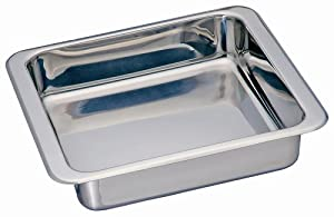 Kitchen Supply Stainless Steel Square Pan 8-inch by 8-inch