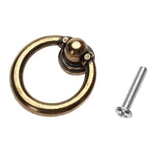10 X Vintage Cabinet Drawer Hardware Drop Ring Handles Knobs Bronze Tone Ama