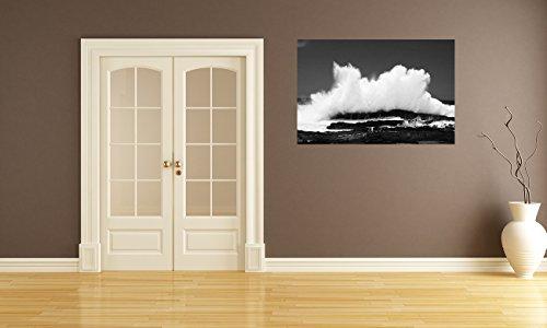 bilderdepot24-fotomurale-autoadesivo-wave-bianco-e-nero-135x90-cm-prodotto-in-germania-carta-da-para