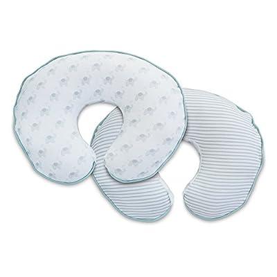 Boppy Pillow Slipcover, Gray Organic Little Elephants