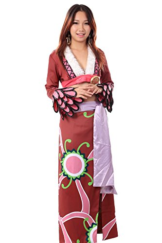 WS_COS One Piece Pirate Empress Hebihime Boa Hancock Outfit 1st Ver Set Kid S