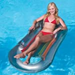 SILVER Deluxe Pool Lounger with Drink...