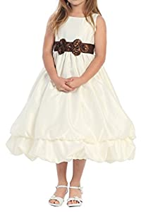 CCHAPPINESS Big Girls Tea Length Tank Pageant Communion Flower Girl Dresses White Child 5