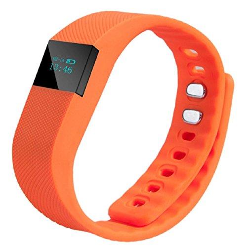 Lookatool Smart Wrist Band Sleep Sports Fitness Activity Tracker Pedometer Bracelet Watch, Orange