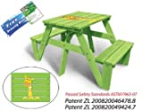 Lohasrus Kids Patio Picnic Table MM20311-Passed Safety Standards ASTM F963-07, Dual Non-toxic Painted Fir, for ages 2 to 6, 1 seated each side, plus Free Drawing Book