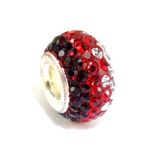 Swarovski Crystal Bead Siam and Crystal