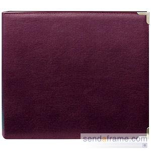 Pioneer 12-Inch by 12-Inch Sewn Burgundy Scrapbook Binder