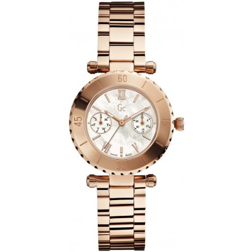 Guess X35011L1S 34mm Bronze Steel Bracelet & Case Mineral Women's Watch