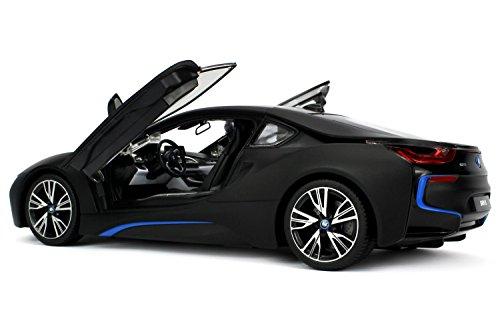Officially Licensed BMW i8 Authentic w/Open Doors RC Vehicles Scale 1:14 by Rastar (Black) (Remote Bmw compare prices)