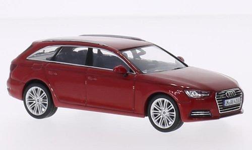 Audi-A4-Avant-rot-2015-Modellauto-Fertigmodell-I-Spark-143