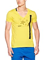 Dirk Bikkembergs Camiseta Manga Corta (Amarillo)