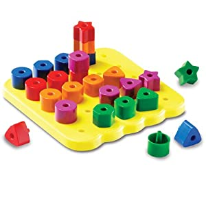 Learning Resources Stacking Shapes Peg Board