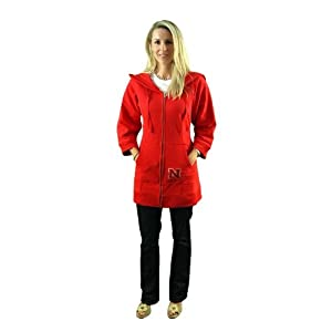 Nebraska Cornhuskers Ladies University of Nebraska Hooded Team Tunic in Red by Meesh & Mia