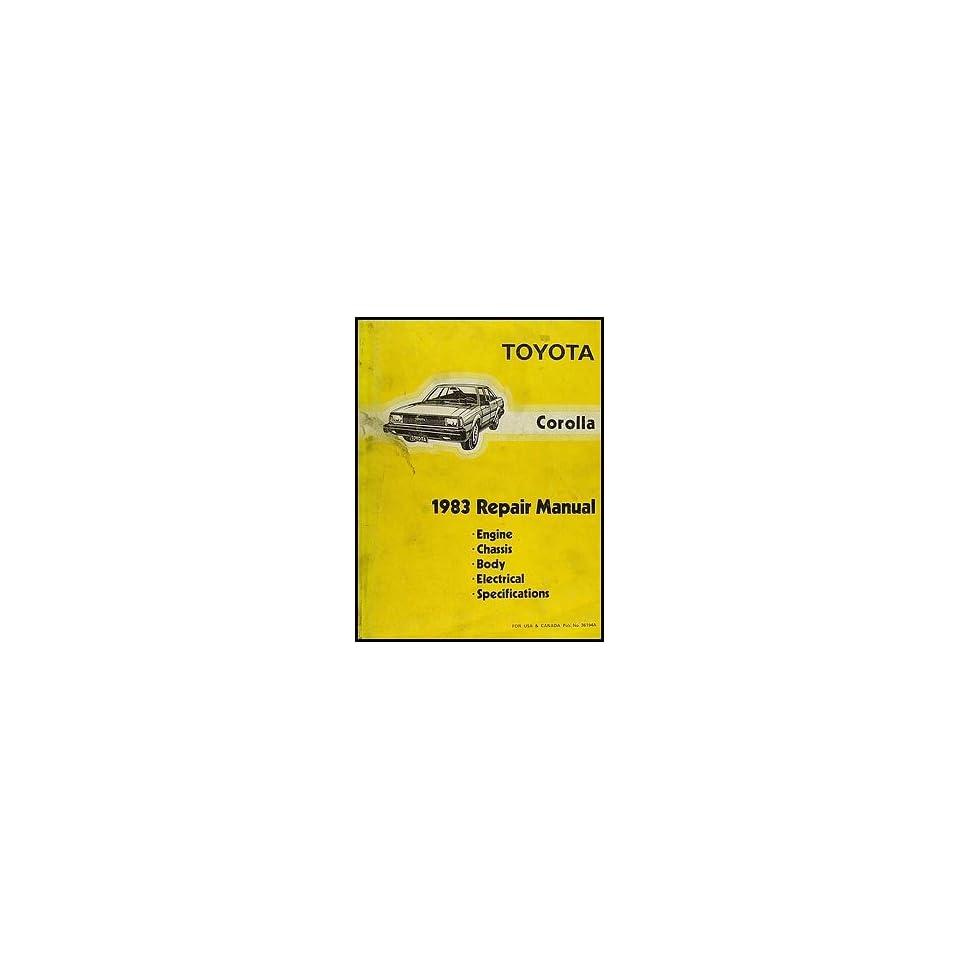 1983 Toyota Corolla Repair Shop Manual Original Books