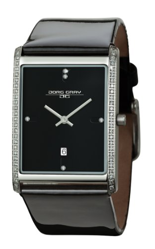 Jorg Gray Ladies Analogue Watch JG2600-12 with Black Dial and Leather Strap