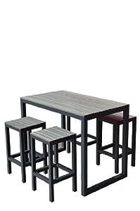 Set Table Haute Et Tabourets De Jardin Newport Jardin