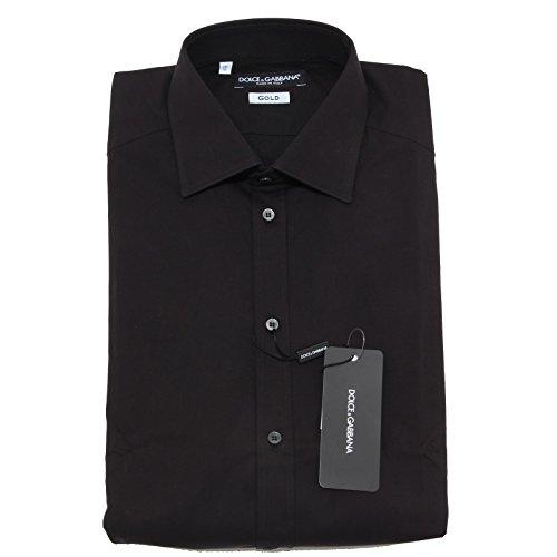 2637L camicia uomo nera DOLCE&GABBANA D&G gold camicie shirts men [41 (16)]