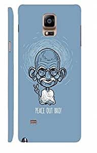 KALAKAAR Printed Back Cover for Samsung Galaxy Note 4,Hard,HD Matte Quality,Lifetime Print Warrenty
