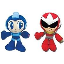Set Of 2 Great Eastern Mega Man Plush - Mega Man & Proto Man
