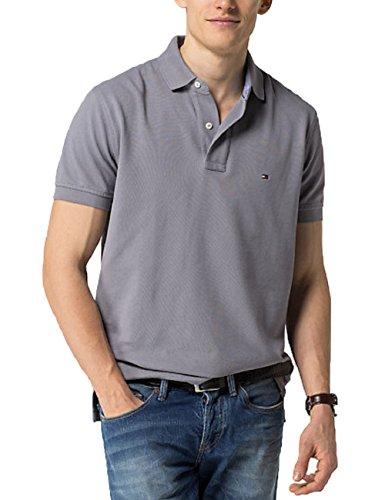 Tommy Hilfiger -  Polo  - Maniche corte  - Uomo SILVER FILIGREE (Grey) X-Large