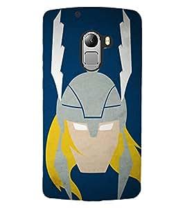 ColourCraft Warrior Look Design Back Case Cover for LENOVO VIBE K4 NOTE