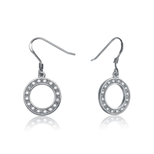 C.Z. Circle Of Life Euro (.925) Sterling Silver Earring