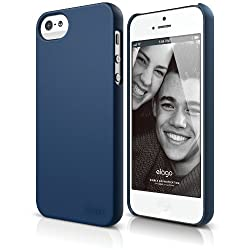 elago S5 Slim Fit 2 Case for iPhone 5 - eco friendly Retail Packaging - Soft feeling Jean Indigo